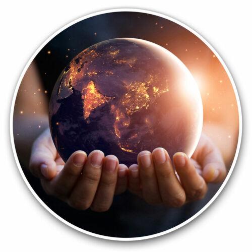 2 x Vinyle Autocollants 7.5 cm-la paix mondiale sur le changement climatique de la terre Cool Cadeau #16165