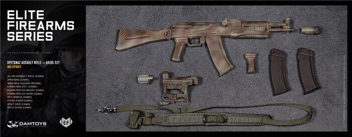 1 6 12  Model DAMTOYS FIREARMS EF007 SPETSNAZ ASSAULT RIFLE AK105 SET