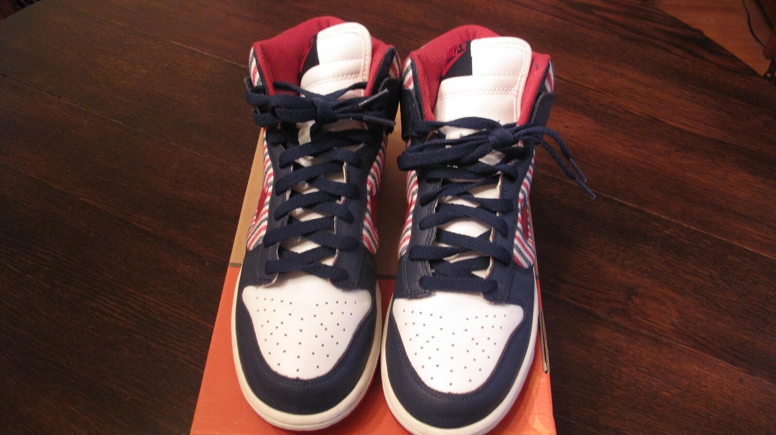 Mens Nike Dunk High Size 8.5,Red/Blue/White