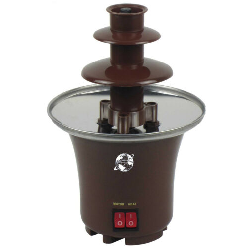 ELECTRIC CHOCOLATE FOUNTAIN STAINLESS STEEL 3 TIER PARTIES FONDUE WARMER DIPPING