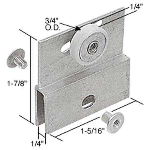H1 Silver Tone Metal Sliding Door Showcase Cylinder Plunger Lock with 2 Keys