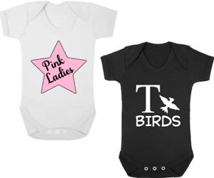 """Adroit Rose Femme/t Oiseaux Twin Révélateurs/pousse/gilets Nouveau-né Cadeau Baby Shower Graisse-s/vests Newborn Gift Baby Shower Grease"""" afficher Le Titre D'origine"""
