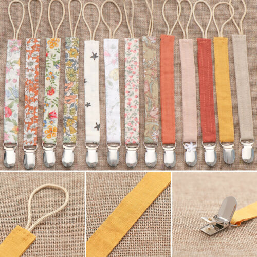 Linen Cotton Printing Pacifier Clip Nipple Clips Soother Holder Pacifiers Chain