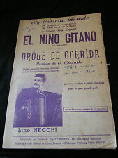 Partition El nino gitano Drôle de corrida Lino Necchi Music sheet