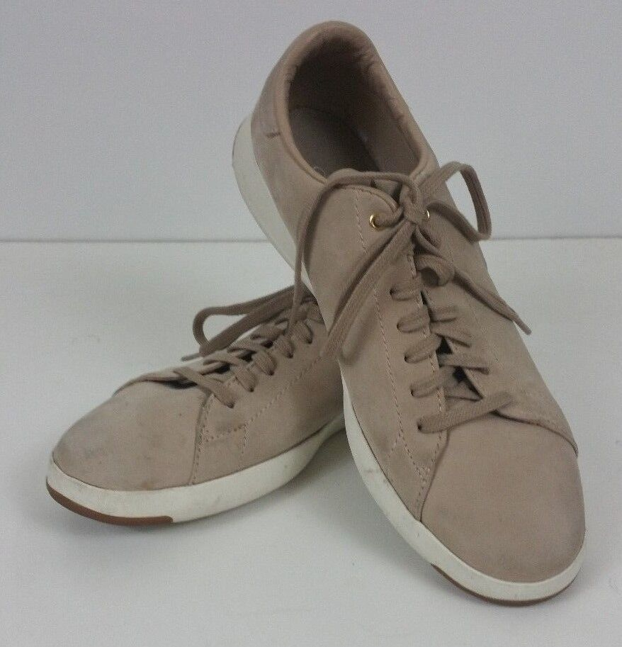 Cole Haan Men 8.5 GrandPro Leather Sandshell Tan Tennis shoes Sneakers