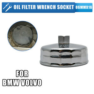 BMW-VOLVO-86mm-16-Flutes-Filtre-a-huile-cle-a-douille-Remover-outil-Housing-Caps