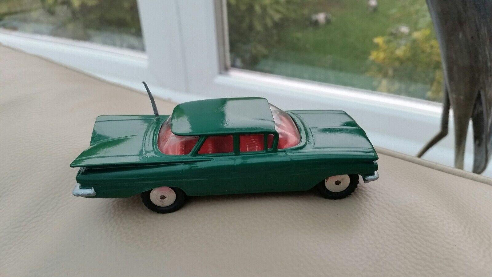 Vintage Diecast Corgi Dark Green Code 3 Chevrolet Impala Spun Wheels Refurbished
