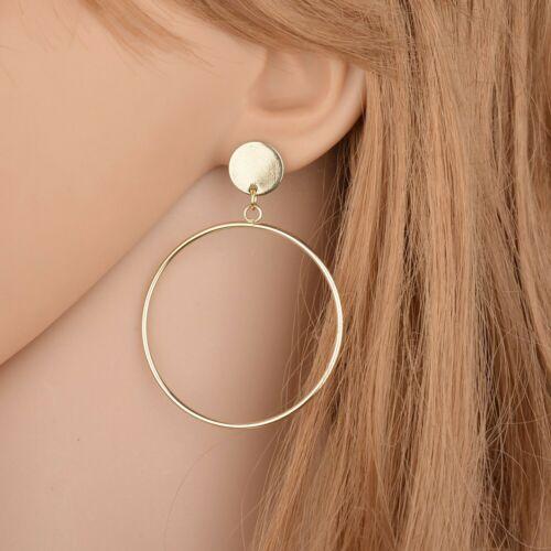 Fashion Elegant Women Geometry Big Round Earrings Stud Drop Dangle Earring
