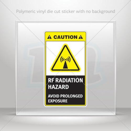 Stickers Sticker Caution RF Radiation Hazard Avoid Prolonged Exposu st7 X9589