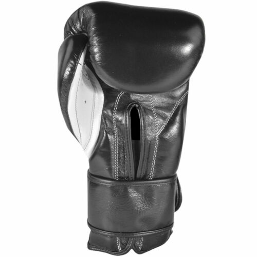 Cleto Reyes Hook and Loop Leather Training Boxing Gloves Black