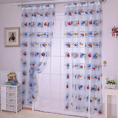Window Curtain Tulle Panel Sheer Scarfs Door Balcony Curtain Children Bedroom
