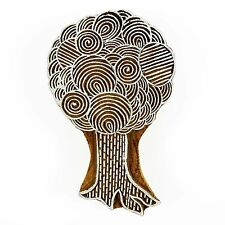 Indian Wood Tree Printing Block Handcraved Textile Stamps Wooden Blockprint