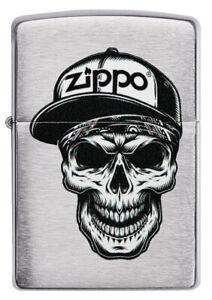 ZIPPO-BENZINA-ACCENDINO-SKULL a cap DESIGN-accessori a scelta - 60004412