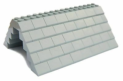 LEGO ROOF 5x12x16 # LIGHT STONE GREY # 100 pieces Slopes Tiles 1x2 2x2 # NEW #