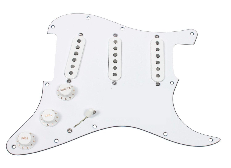 Fender Geladen Strat Schlagbrett Eric Johnson Sig Tonabnehmer Alle Weiß oder