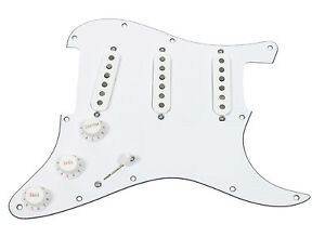 fender loaded strat pickguard eric johnson sig pickups all white or Strat Wiring 3 Push Pulls image is loading fender loaded strat pickguard eric johnson sig pickups