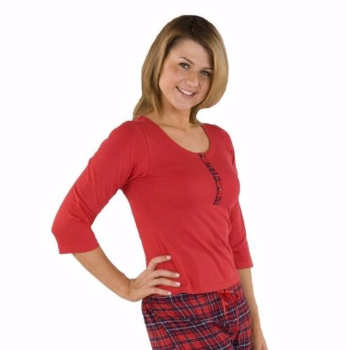 Clearance.....Moon River Red Brushed Cotton Check//Plain Pyjamas S-XL