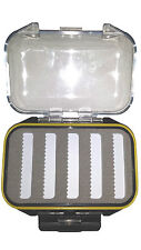 fly fishing box waterproof clear view fly box double sided - fly fishing tackle