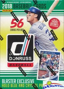 2018-Donruss-Baseball-EXCLUSIVE-Sealed-Blaster-Box-HOLO-BLUE-amp-CRYSTAL-PARALLELS
