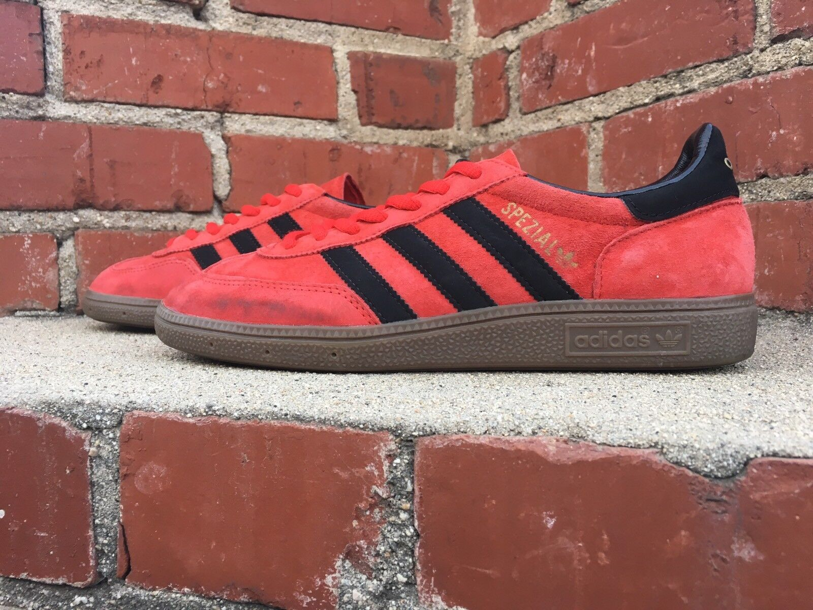 Adidas Spezial Red Black Gold with Gum Sole Casual Fashion Sneaker Style Q23094