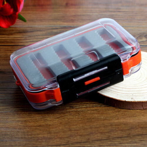 Double Side Waterproof Foam Fly Fishing Bait Lure Hook Storage Case Box YH