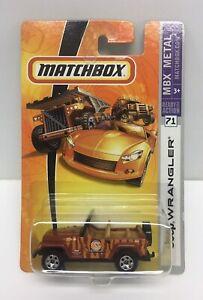 Matchbox-Jeep-Wrangler-Zoo-Keeper-Services-Mattel-2006-NOS