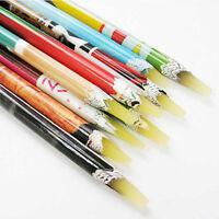 Resin Rhinestones Picker Pencil Nail Art  Crystal Pick Up Tool Wax Pen Long LA