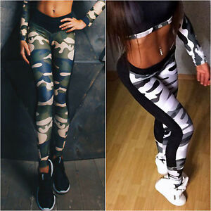 ff54f1474e Image is loading Women-Camouflage-Yoga-Pants-Fitness-Leggings-Gym-Exercise-