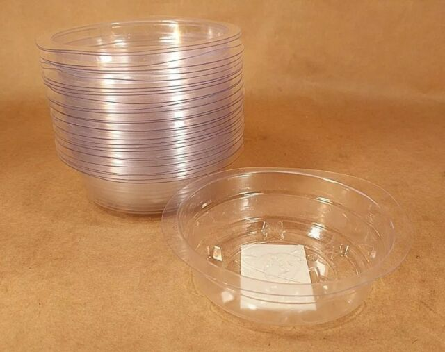 """4/"""" Vinyl Plastic Pot Saucers for House Plants 10 3-1//4/"""" at Bottom 4 Inch"""