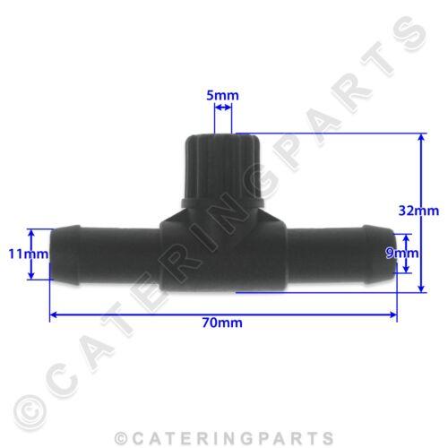 RTP01 in plastica 3-WAY T Pezzo 3 connessione T-RACCORDO TUBI Lavastoviglie Risciacquo Aiuto