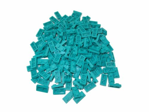 LEGO Dark Turquoise Plate 1x2 Lot of 100 Parts Pieces 3023