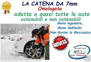 Catene neve 7mm per Alfa Romeo 159159 SportWagon Pneumatico 215//55R16