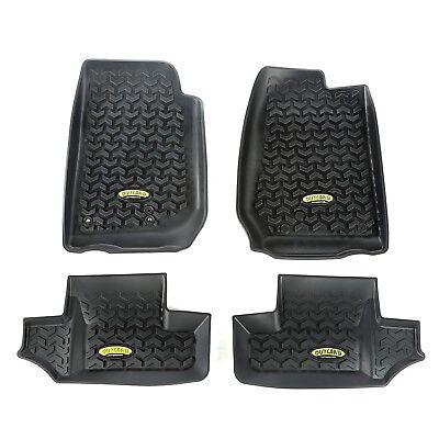 Floor Liners Mat Kit Black for Jeep Wrangler 2 Door JK 2007-18 391298703 Outland
