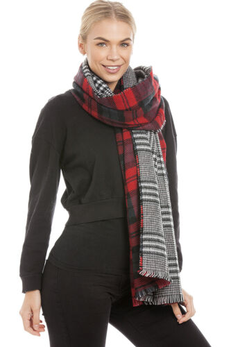 Central Chic Women/'s Large Long Tartan Scarf Shawl Wrap *Fast Dispatch UK Seller