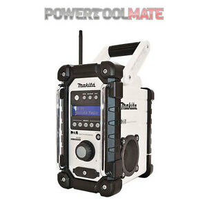 makita dmr104 white dab jobsite radio 18v 240v bmr104 ebay. Black Bedroom Furniture Sets. Home Design Ideas
