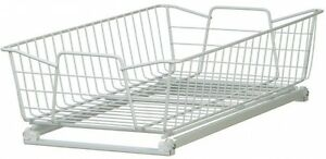 White Wire Cabinet Organizer, Pull-Out Basket, Sliding ...