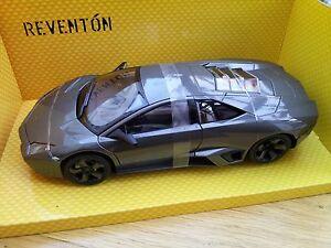 Mondo Motors 50040 Lamborghini Reventon Diecast Sports Car Gunmetal Grey 1: 18ème