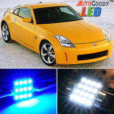 9 x Premium Blue LED Lights Interior Package Kit for Nissan 350Z 2003-2008 +Tool