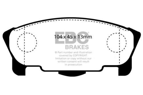 EBC Ultimax Front Brake Pads for Daihatsu Avanzato 0.7 Turbo 98 /> 99