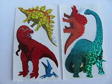 Vintage Lot of Hambly Glitter Dinosaur Stegosaurus Stickers - Scrapbook Collage