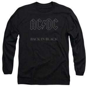 ACDC AC-DC Rock Band DIRTY DEEDS DONE DIRT CHEAP Long Sleeve T-Shirt S-3XL