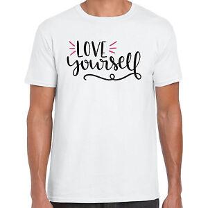 Love-Yourself-UOMO-TSHIRT-REGALO-DIVERTENTE-MAGLIETTA
