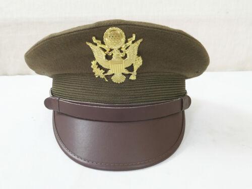 57//58 US ARMY WW2 Officer Crusher cap VISOR CAP HAT Schirmmütze Offizier Gr.M