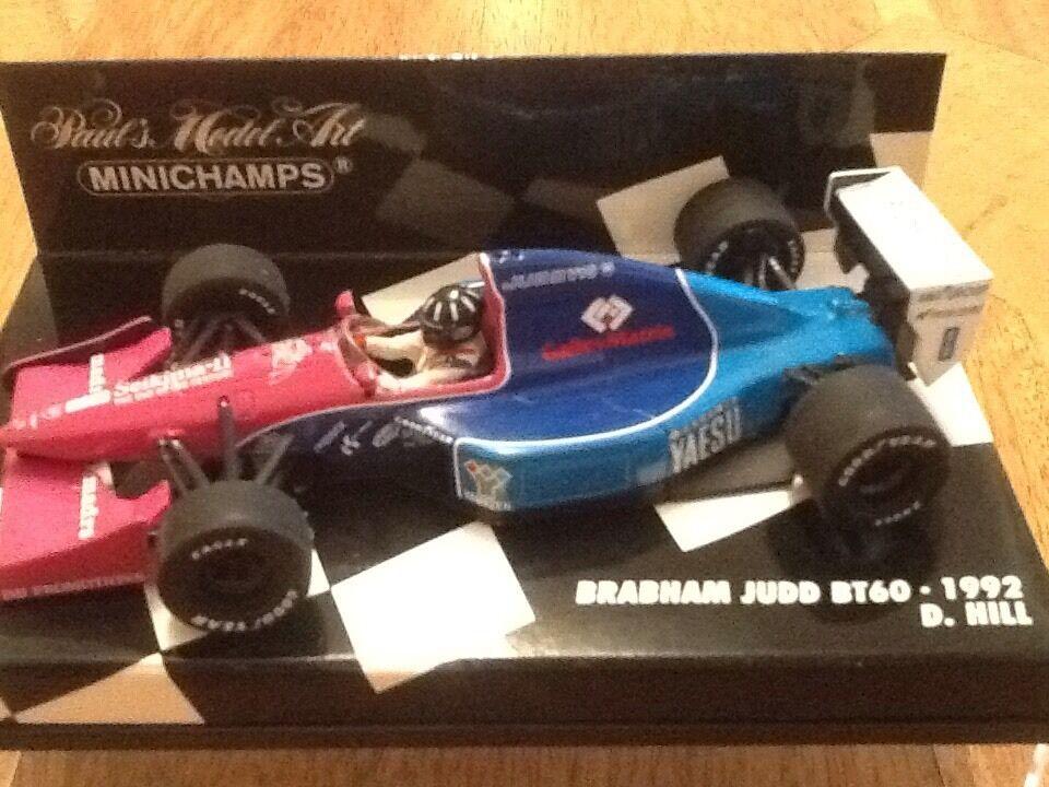 Damon Hill F1 Brabham Judd Minichamps 1 43  Rare First Drive - RARE  garantie de crédit