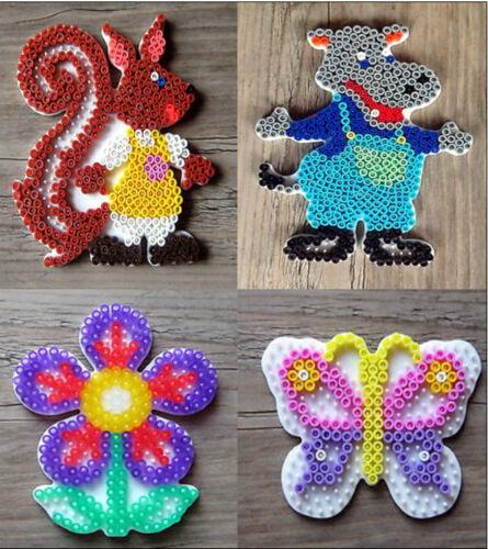 4 Stiftplatten Hama midi Blume Eichhörnchen Flusspferd Schmetterling Bügelperle