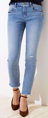 Ann Taylor LOFT Straight Crop Jeans Pants in Vintage Mid Indigo Wash Var Sizes