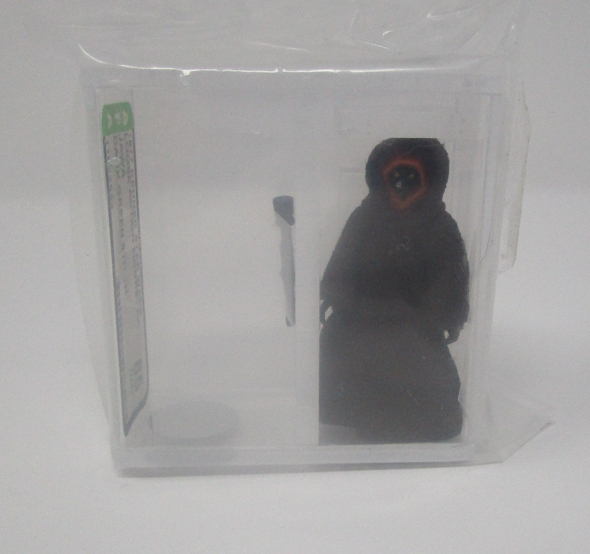 Jawa Dark Grün Stitch 1977 Stern WARS Graded AFA 85 NM+ HK Coo J1 New Fall