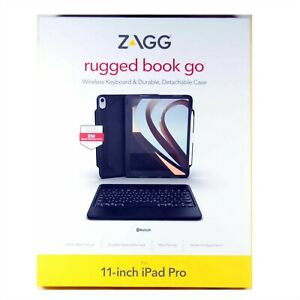 Zagg Rugged Book Go Keyboard Folio For Ipad Pro 11 Inch