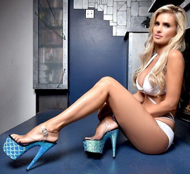 7  Heel Turquoise Mermaid Blau Glitter Mermaid Turquoise Tail Scales Costume Stripper schuhe Womans 3be980