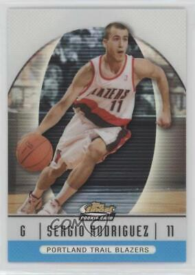 2006 Topps Chrome 199 Sergio Rodriguez Portland Trail Blazers RC Basketball Card